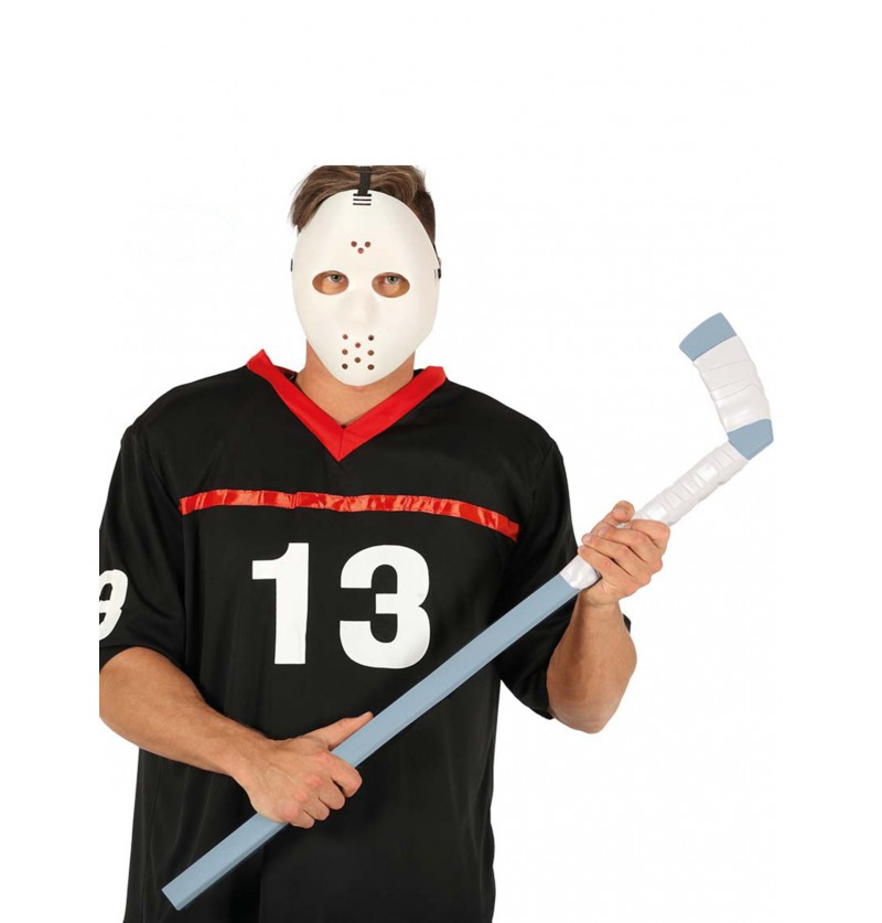 bastn de hockey gris y blanco para adulto