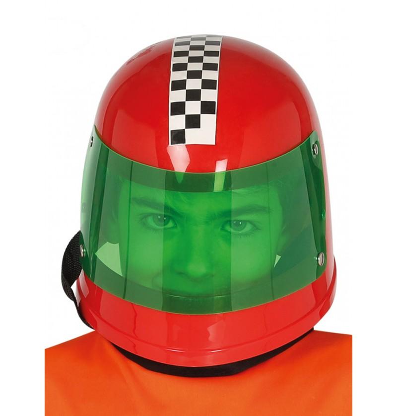 casco de piloto de frmula 1 rojo infantil