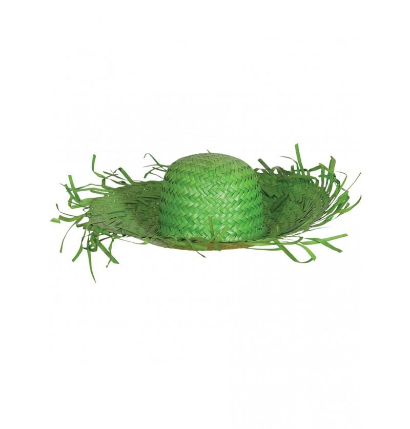 sombrero de espantapjaros verde para adulto