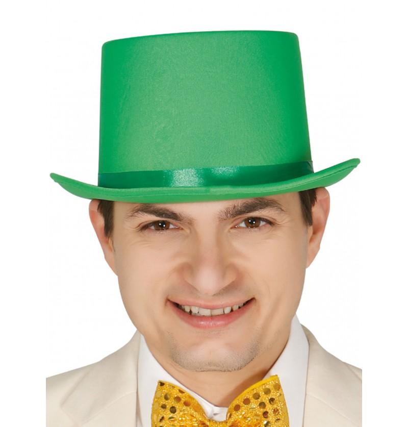sombrero elegante verde para adulto
