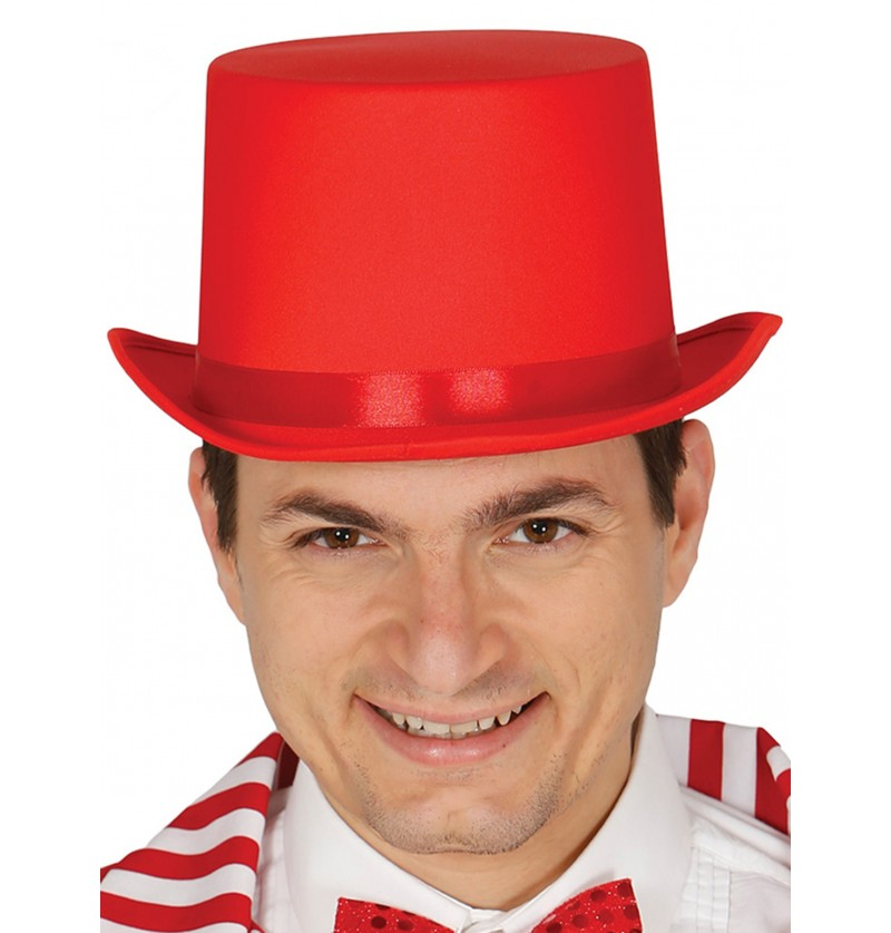 sombrero elegante rojo para adulto