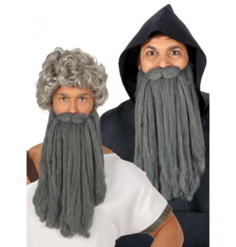 barba larga de anciano gris para hombre