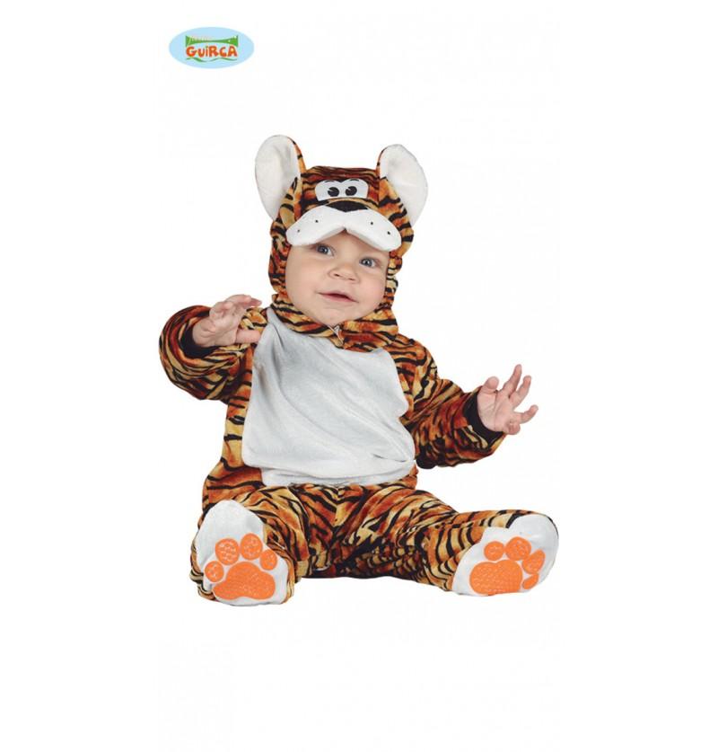 disfraz de tigre adorable naranja para beb