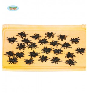 Bolsa de 24 moscas decorativas
