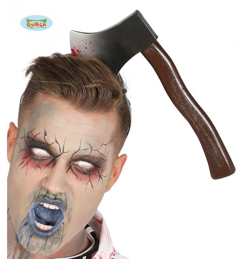 Diadema de hachazo en la cabeza