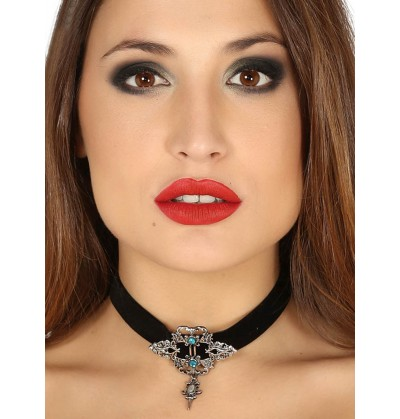 Gargantilla gótica con cinta negra