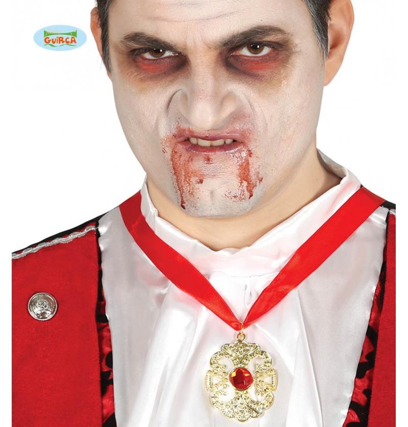 Collar de  vampiro Drácula con rubí