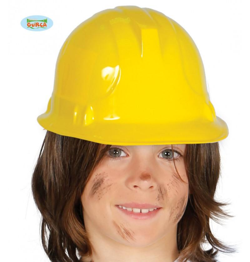 Casco de obrero amarillo infantil