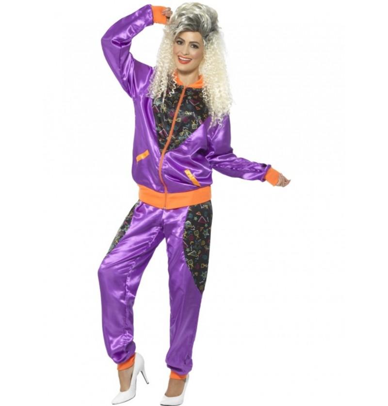 Disfraz de chándal retro años 80 para mujer