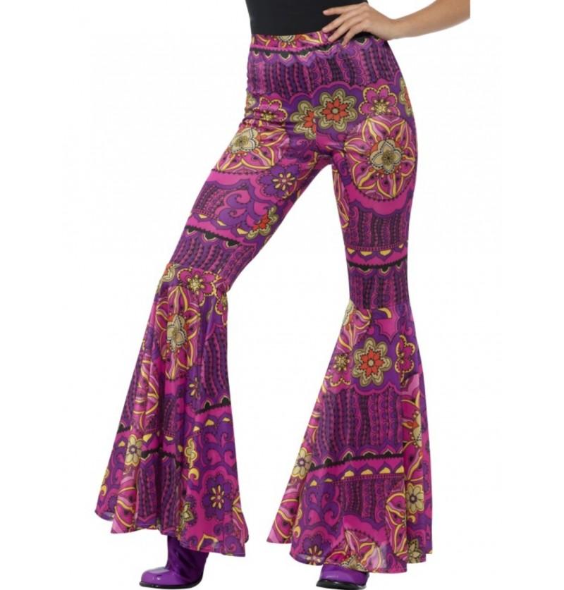 Pantalones acampanado floreado para mujer
