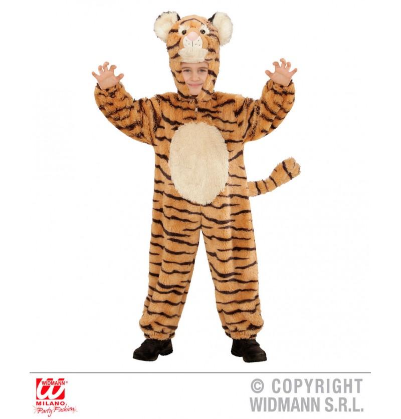 Disfraz de tigre valeroso de peluche para bebé