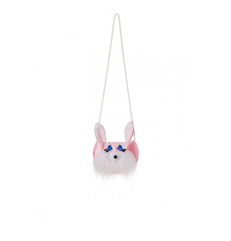 bolso de conejo rosa