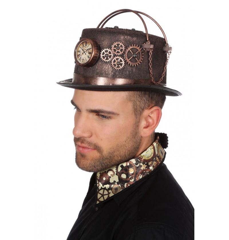 sombrero de steampunk con reloj para adulto