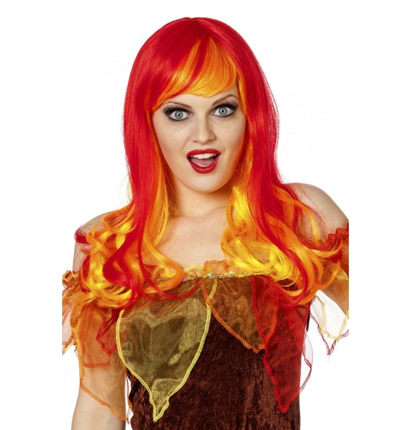 peluca de fuego para mujer
