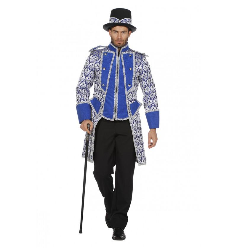 chaqueta de domador azul para hombre
