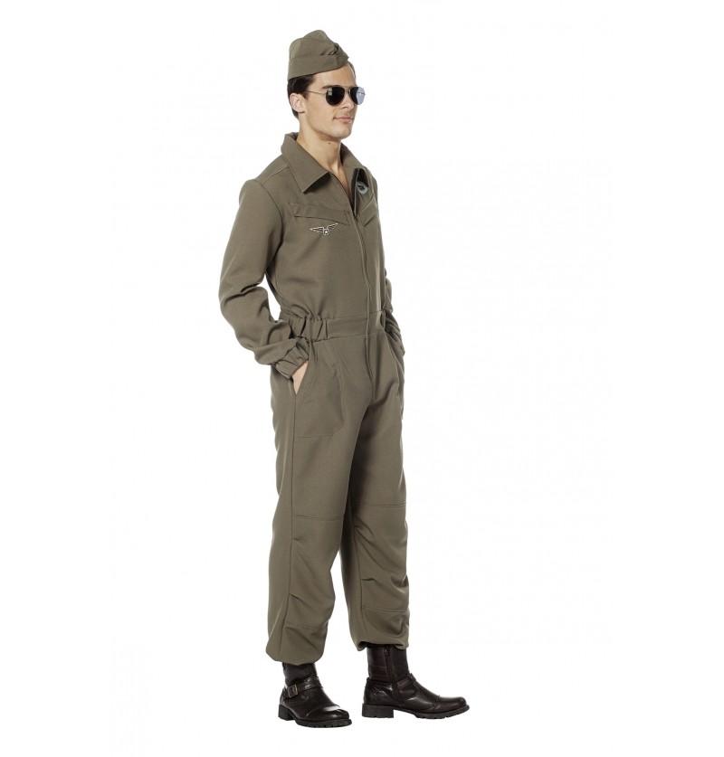 disfraz de piloto areo verde para hombre