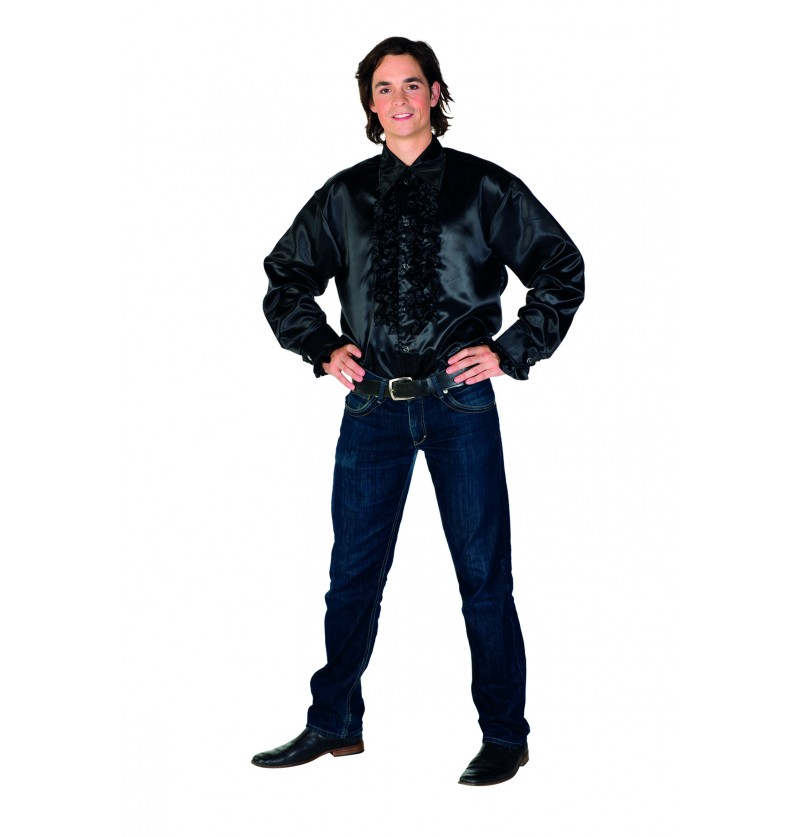 camisa barroca negro para hombre