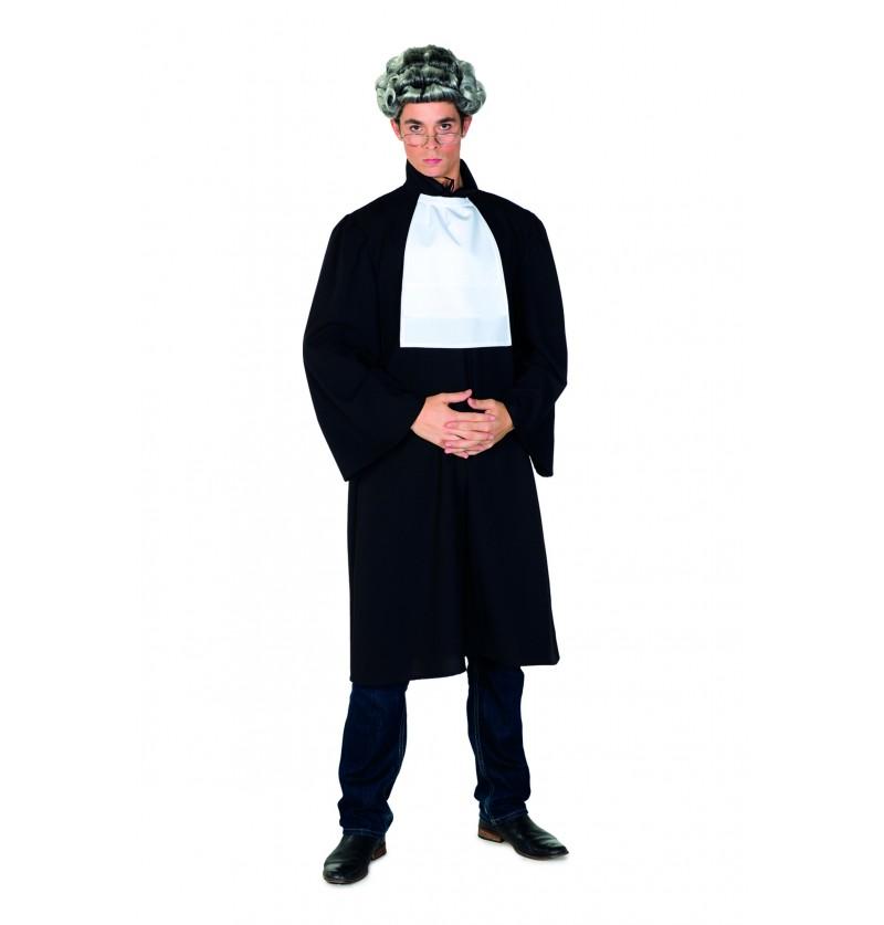disfraz de juez negro para hombre