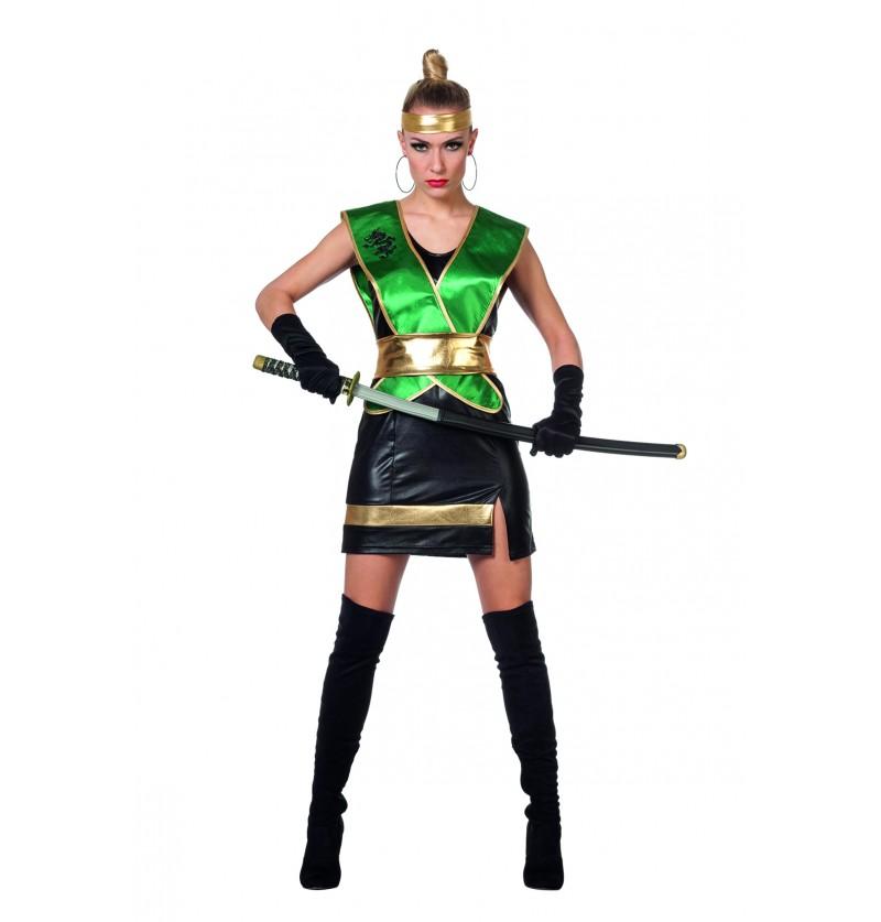 disfraz de ninja verde para mujer
