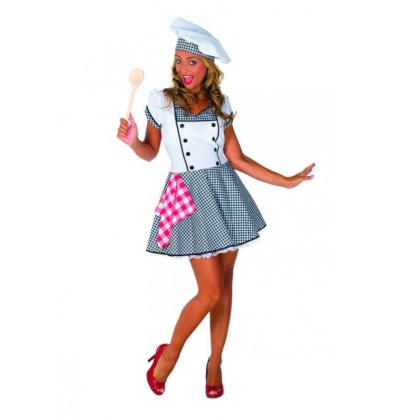 disfraz de cocinera sexy para mujer