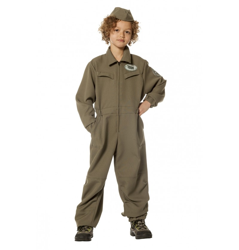 disfraz de piloto areo verde para nio