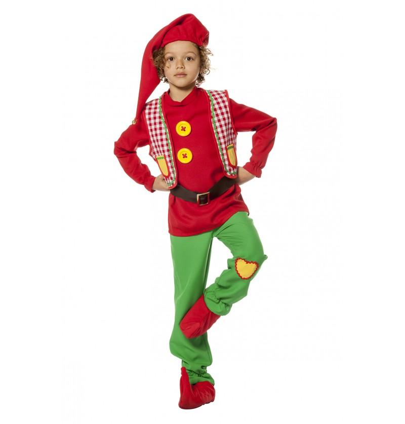 disfraz de duende rojo para nio
