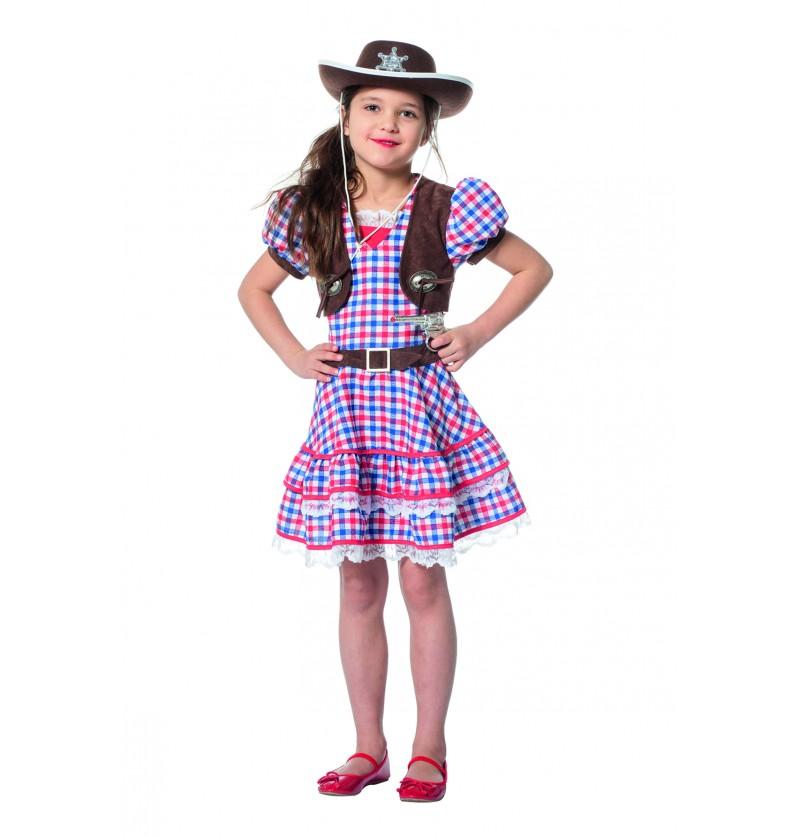 disfraz de vaquera rojo para nia