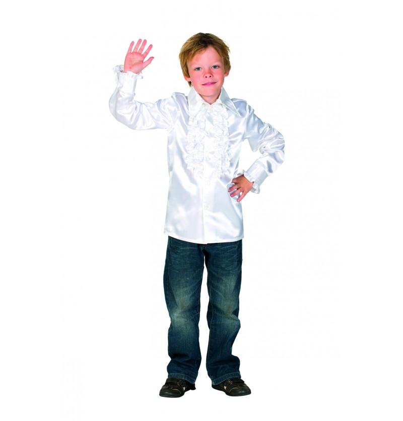 camisa disco de los 70 s blanco infantil