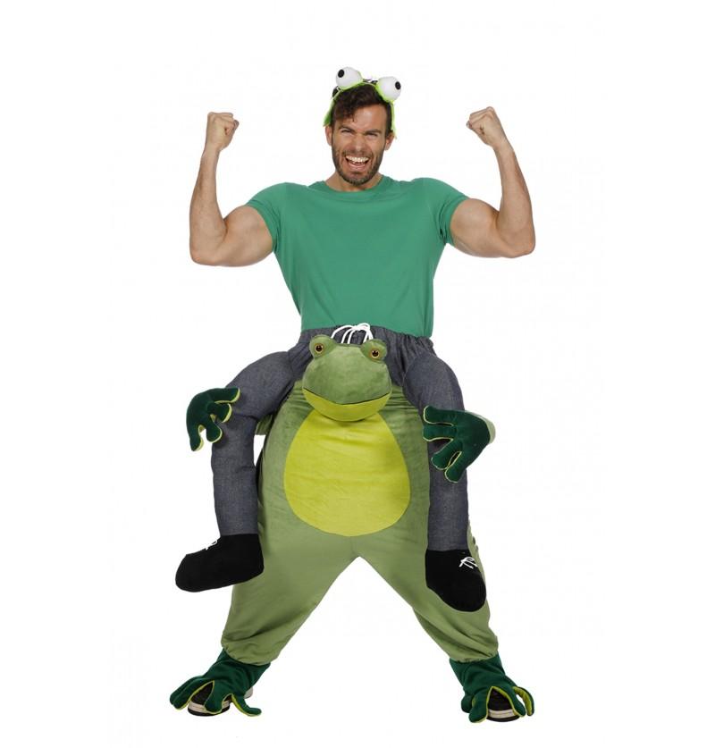 disfraz de rana ride on para adulto