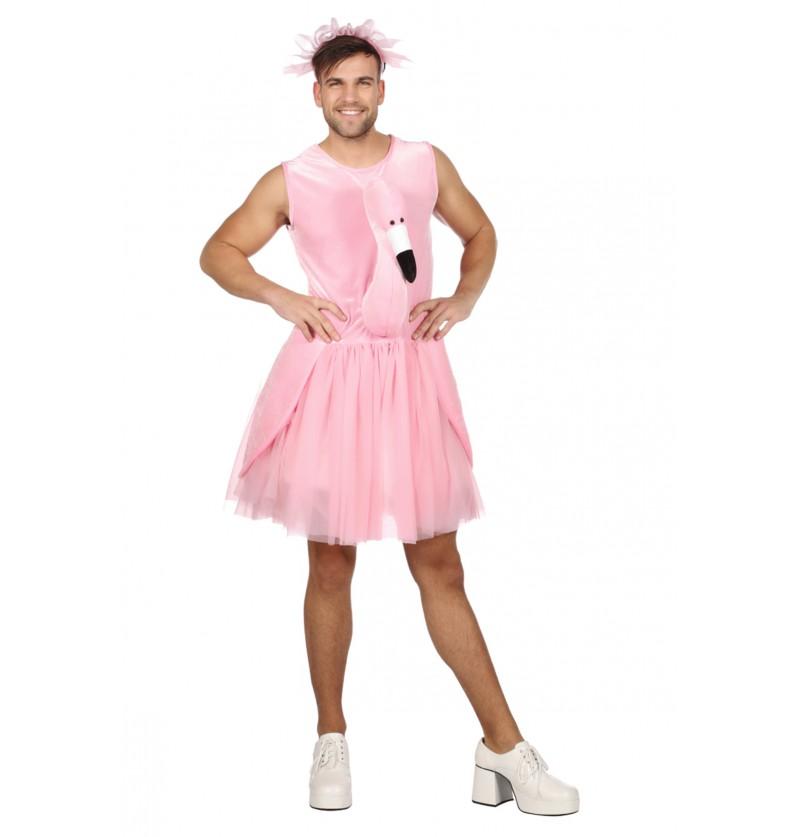 disfraz de flamenco rosa para hombre