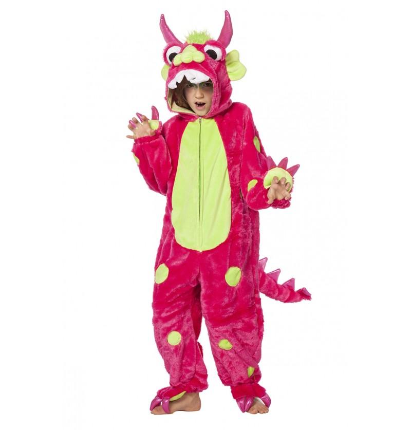 disfraz de monstruo rosa infantil