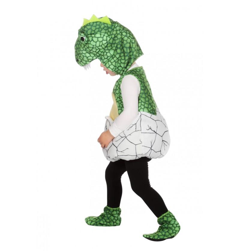 disfraz de dinosaurio naciendo de huevo infantil