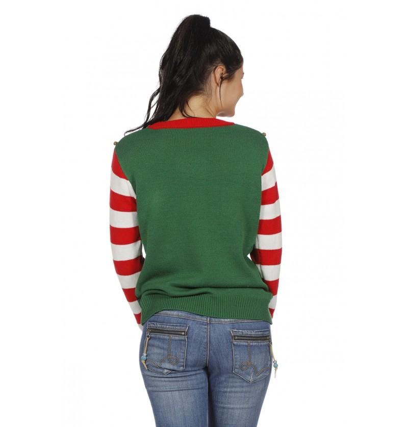 sudadera de elfo verde para adulto