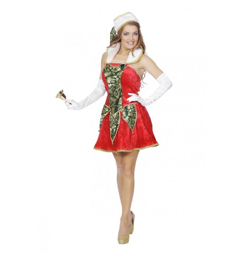 disfraz de elfo navideo rojo para adulto