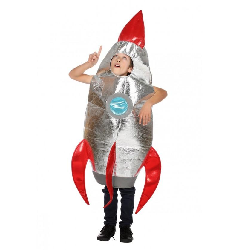 disfraz de cohete plateado infantil