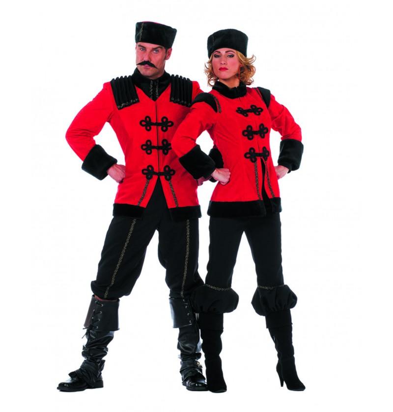 disfraz de cosaco deluxe rojo para hombre