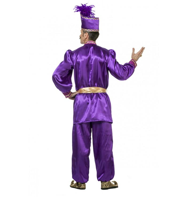 disfraz de sultn morado para hombre