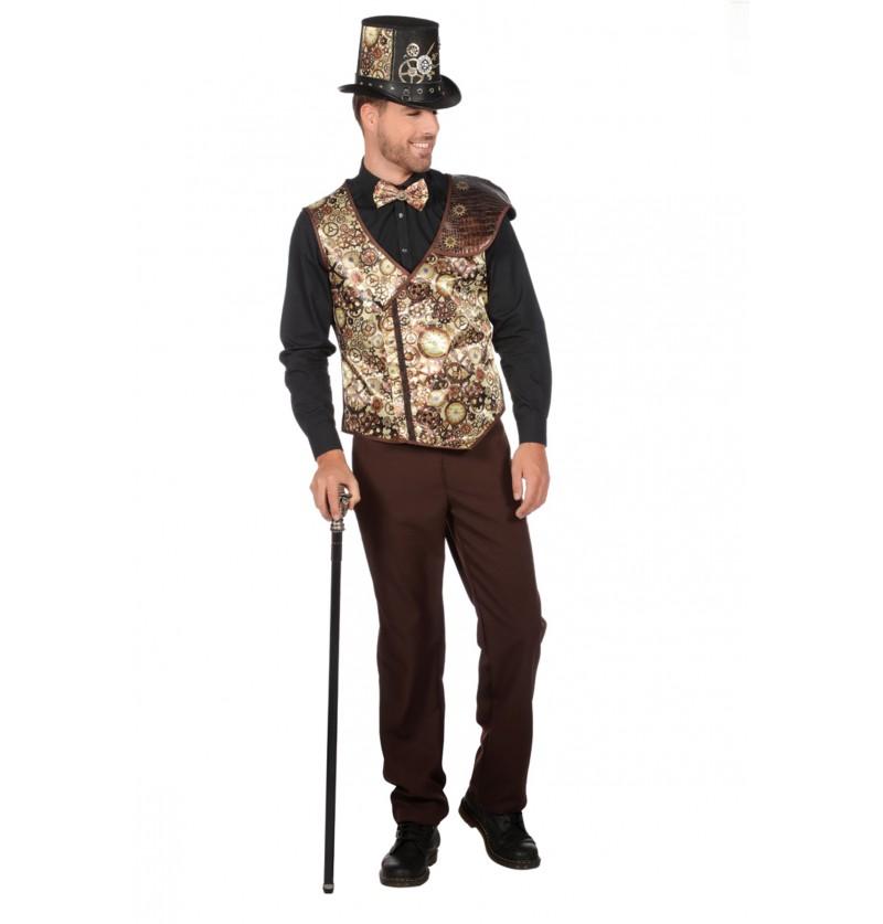 chaleco de steampunk dorado para hombre