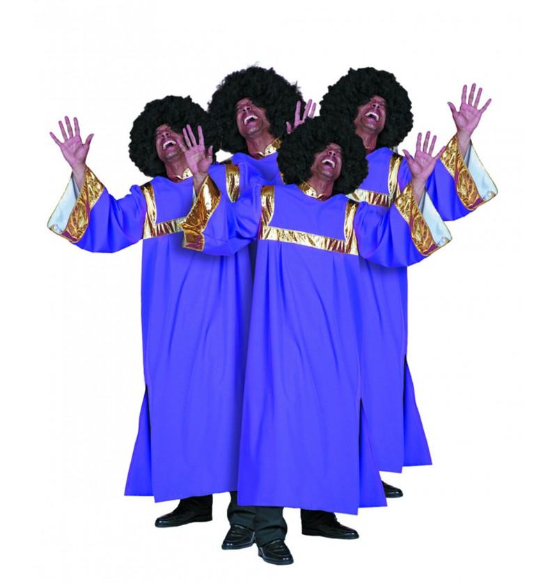 disfraz de cantante de gospel morado para hombre