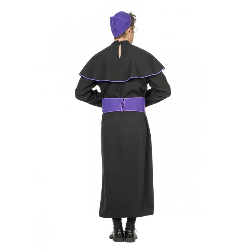 disfraz de obispo negro para hombre