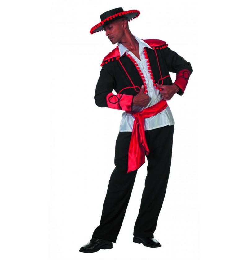disfraz de caballero argentino negro para hombre