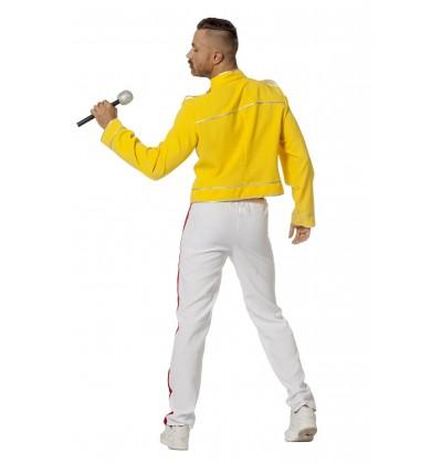 disfraz de freddie mercury amarillo para hombre