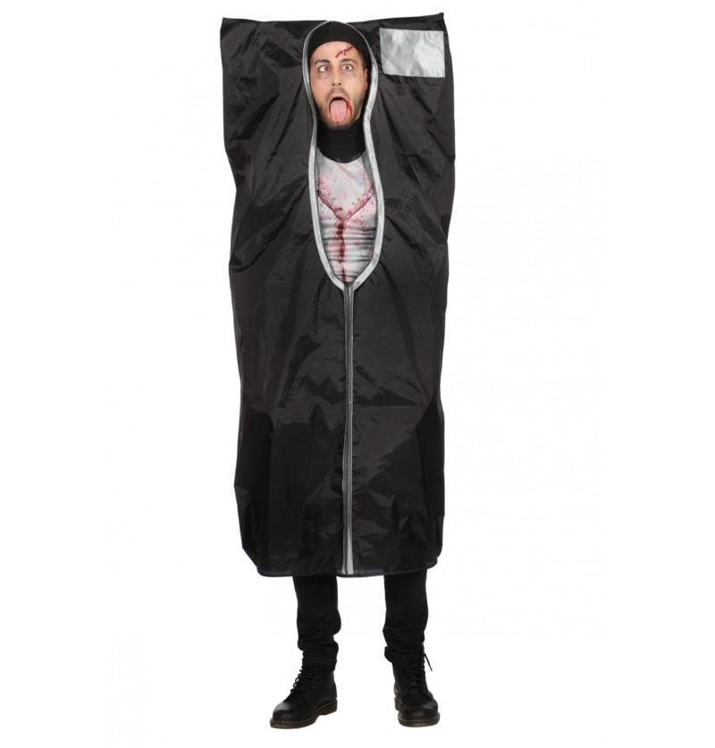 disfraz de bolsa de dormir negra para hombre