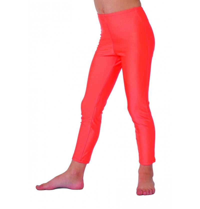 leggings de disco de los 70 s naranja para nia