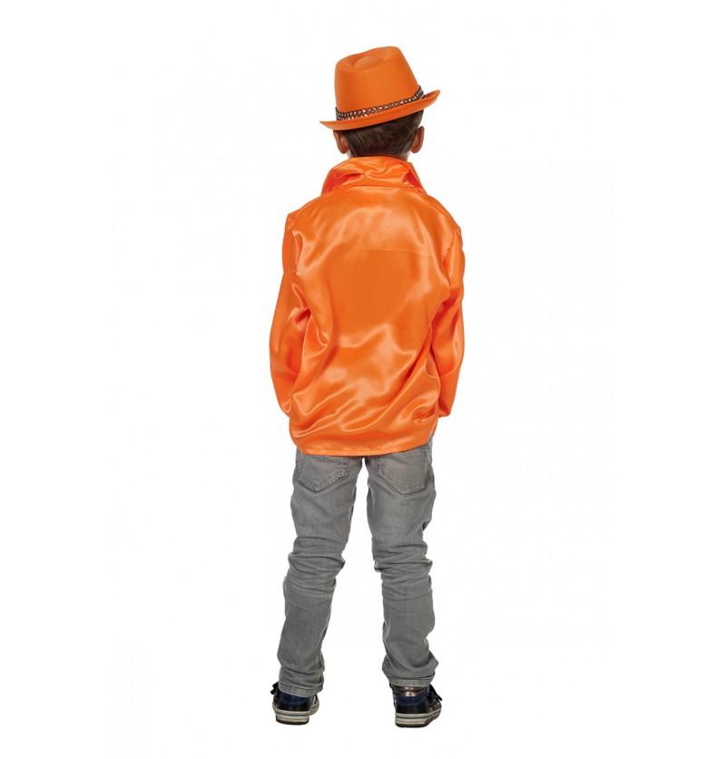 camisa disco de los 70 s naranja infantil