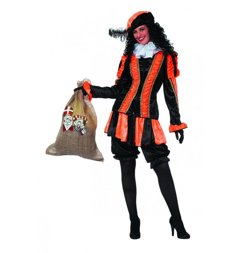 disfraz de pedro ayudante de san nicols naranja para mujer