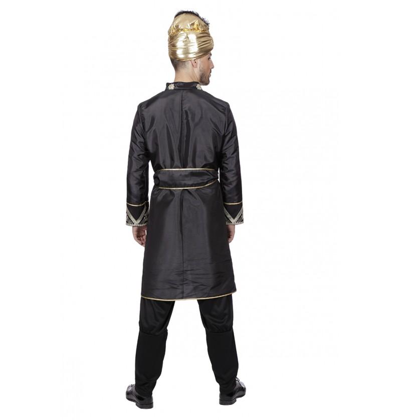 disfraz de caballero de la india negro para hombre