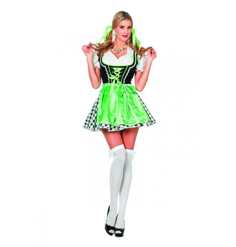 disfraz de oktoberfest verde para mujer