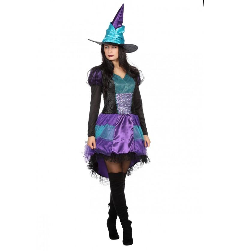disfraz de bruja con brillantes para mujer