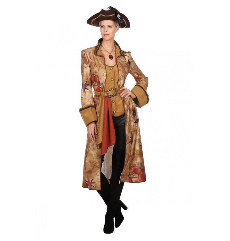 disfraz de cazadora de tesoros dorado para mujer